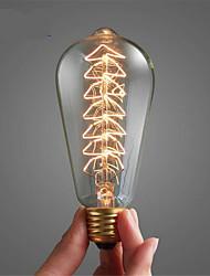 ST64 e27 40w 2700k vintage edison lâmpada incandescente lâmpada (220-240V)