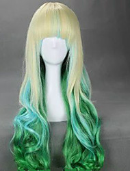 2 Colors Full Bang  80cm  Long Cosplay Wigs  Wavy Harajuku Ombre Wig Synthetic Wigs Halloween Costume Party  Wig
