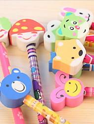 b7-01 студенты канцелярские карандаш ластик голова