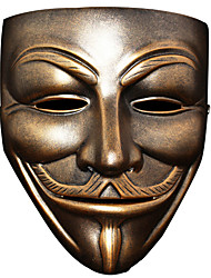 High Quality V for Vendetta Mask Resin For Halloween Masquerade Prop Anonymous Guy Fawkes Fancy Dress Adult Costume