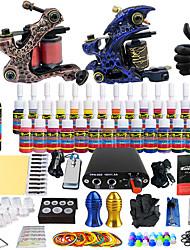 Solong kit de tatouage de tatouage complète 2 28 encres d'alimentation des Poignées aiguille de pro machines