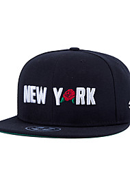 New Men Women Letter New York Flower Embroidery Street Dance Hip Hop Baseball Caps