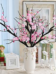1 1 Une succursale Soie Cerisier du Japon Fleur de Table Fleurs artificielles 90CM
