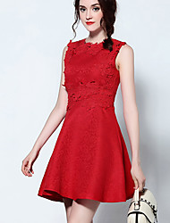 Women's Sophisticated Solid Sheath Dress,Stand Above Knee Polyester