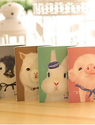 New Cute Cartoon Animal Car Line Notebook Small Paper Notebook(Random Colors)