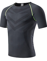 Men's Running T-Shirt Short Sleeves Quick Dry Breathable Compression Comfortable Compression Clothing Top for Exercise & Fitness Racing