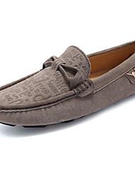 Masculino-Sapatos de Barco-Rasos-Rasteiro-Azul / Marrom / Caqui-Couro de Porco-Casual