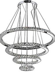 Modern LED Pendant Light Clear Crystal Ceiling Chandeliers Lighting Lamp with D100CM+D80CM+D60CM+D40CM CE FCC UL
