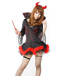 Cosplay Costumes/Party Costumes Angel & Devil / Zombie / Vampires Halloween / Christmas / Carnival / New Year Red / Black Vintage Dress