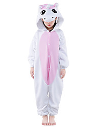 Kigurumi Pajamas Unicorn Leotard/Onesie Festival/Holiday Animal Sleepwear Halloween Pink Patchwork Polar Fleece Kigurumi For KidHalloween