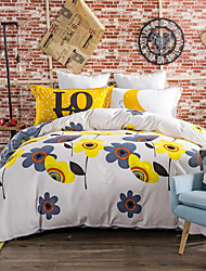 Flowers 800TC bedding sets Queen King size Bedlinen printing sheets pillowcases Duvet cover sanding Cotton Fabric