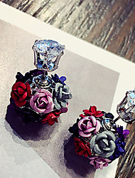 Earring Flower Jewelry 1 pair Fashionable Alloy Daily / Casual