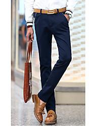 Men's Solid Casual Suits,Cotton Multi-color