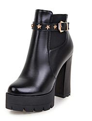 Women's Shoes Fashion Short Boots / Round Toe Bootie Ankle Boots Office & Career / Party & Evening / Dress