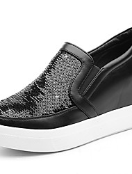 Women's Sneakers Spring / Summer / Fall / Winter Creepers Glitter Athletic / Casual Platform  Black / Silver Sneaker