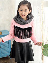 Girl's Casual/Daily Print Dress,Cotton Winter Black / Pink / Red
