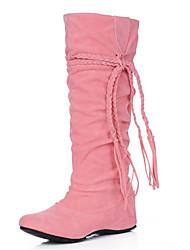Women's Boots Spring / Fall / Winter Fashion Boots Fleece Wedding / Dress / Casual Wedge Heel Tassel Black / Brown
