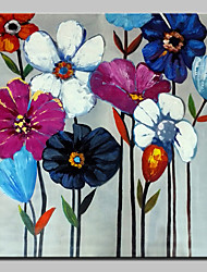 Hand Painted Flowers Oil Paintings On Canvas Modern Wall Art Picture With Stretched Frame Ready To Hang 80x80cm