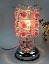 1pc branché roses d'électricité douce essence lampe à huile aing type de lampe de bureau cadeau décoré tactile