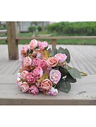 Poliéster Decorações do casamento-1Piece / Set Flor Artificial Casamento Clássico Vermelho / Rosa / Laranja / Fúcsia / Bordô / Roxa