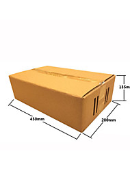 Fruit Box Packing Box,Specification: 450 * 280 * 135 (mm), Corrugated board, Can Carry Weight: 5 KG,(A Pack of 2)