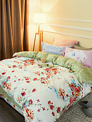 High Fabric 800TC bedding sets Queen King size Bedlinen printing sheets pillowcases Duvet cover sanding Cotton Fabric