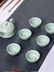 Anaglyph Carp Teapot Teacup Gift Tea Set