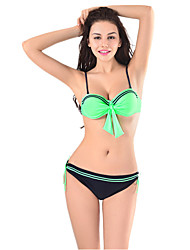 Explosion Models Printed Bikini Swimsuit Split Bikini