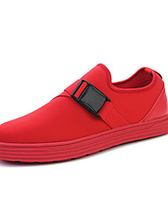 Men's Flats Spring / Fall Round Toe / Flats Fabric Casual Flat Heel Others Black / Red / White Others