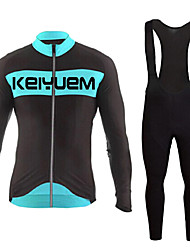 KEIYUEM®Spring/Summer/Autumn Long Sleeve Cycling Jersey+Long Bib Tights Ropa Ciclismo Cycling Clothing Suits #L76