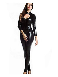 Vinyl PVC Wetlook Catsuit Cosplay Clubwear 2Way Zipper Bodysuit Jumpsuit Zentai  Girls Festival/Holiday Halloween  Leotard/Onesie Carnival