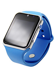 "M007 Wearable 1.54"" Touch Screen Smart Watch w/ Bluetooth & Pedometer Heart Rate - Blue"