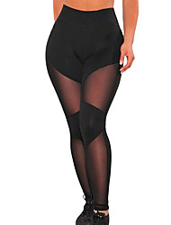 Femme Couleur Pleine Legging,Polyester Spandex