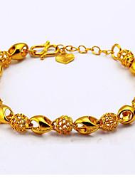 24K Gold Color Exquisite Gold Plated Bracelet