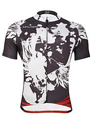 ILPALADINO Camisa para Ciclismo Homens Manga Curta Moto Blusas Secagem Rápida Resistente Raios Ultravioleta Respirável Macio Tiras