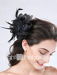Women's Feather / Tulle Headpiece-Wedding / Special Occasion Flowers 1 Piece