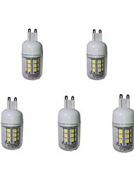 5 G9 LED лампы типа Корн T 27 SMD 5050 380 lm Тёплый белый / Холодный белый Декоративная AC 220-240 V 5 шт.