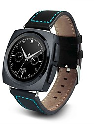 Lederband Smart Watch AL11 mit Funktionssensor Pedometer-Push-Nachricht Touchscreen Herzfrequenz
