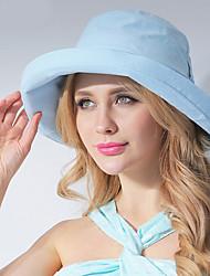 Feminino Casual Poliéster Verão Chapéu de sol