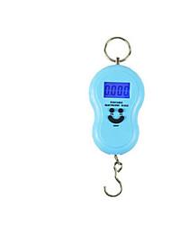 balança eletrônica portátil (versão Inglês, azul, escala máxima: 40 kg)