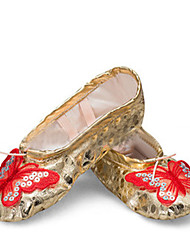 Chaussures de danse(Rose / Rouge / Argent / Or) -Non Personnalisables-Talon Plat-Similicuir-Ballet / Baskets de Danse