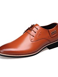 Men's Oxfords New Arrival/Men's  Dress/Fashion Style/Genuine Leather/Office & Career/Casual  Black/Orange
