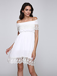 Women's Sexy/Beach/Casual/Lace/Party Short Sleeve Dress