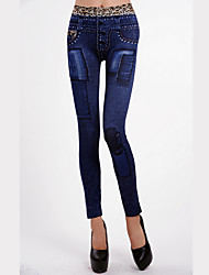 Women Denim Legging,Polyester
