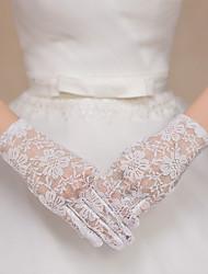 Handgelenk-Länge Fingerspitzen Handschuh Spitze Tüll Brauthandschuhe Party / Abendhandschuhe Frühling Sommer Herbst Winter Spitze