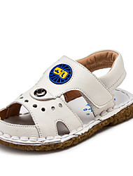 Boy's Sandals Summer Open Toe / Sandals Leather Casual Flat Heel Others Black / Brown / Yellow / White