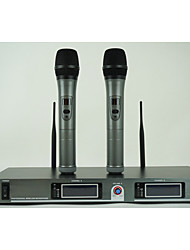 VK-600 Wireless Microphone Karaoke System With Dual Metal Handheld Transmitter Microfone Mic