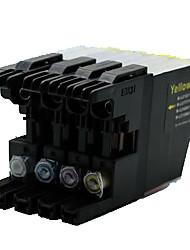 frère compatible mfc-J2320, cartouches d'imprimante mfc-j2720, lc699xl, un paquet de 4, couleurs: rouge, noir, jaune, bleu