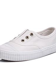 Fille-Extérieure / Décontracté / Sport-Rose / Blanc / Gris-Talon Plat-Confort / Bout Arrondi / Ballerines-Sneakers-Toile