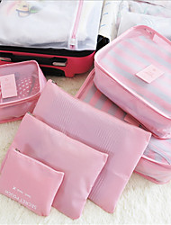 Large Mesh Breathable Waterproof Travel Bag Six Pieces Of Luggage Bag